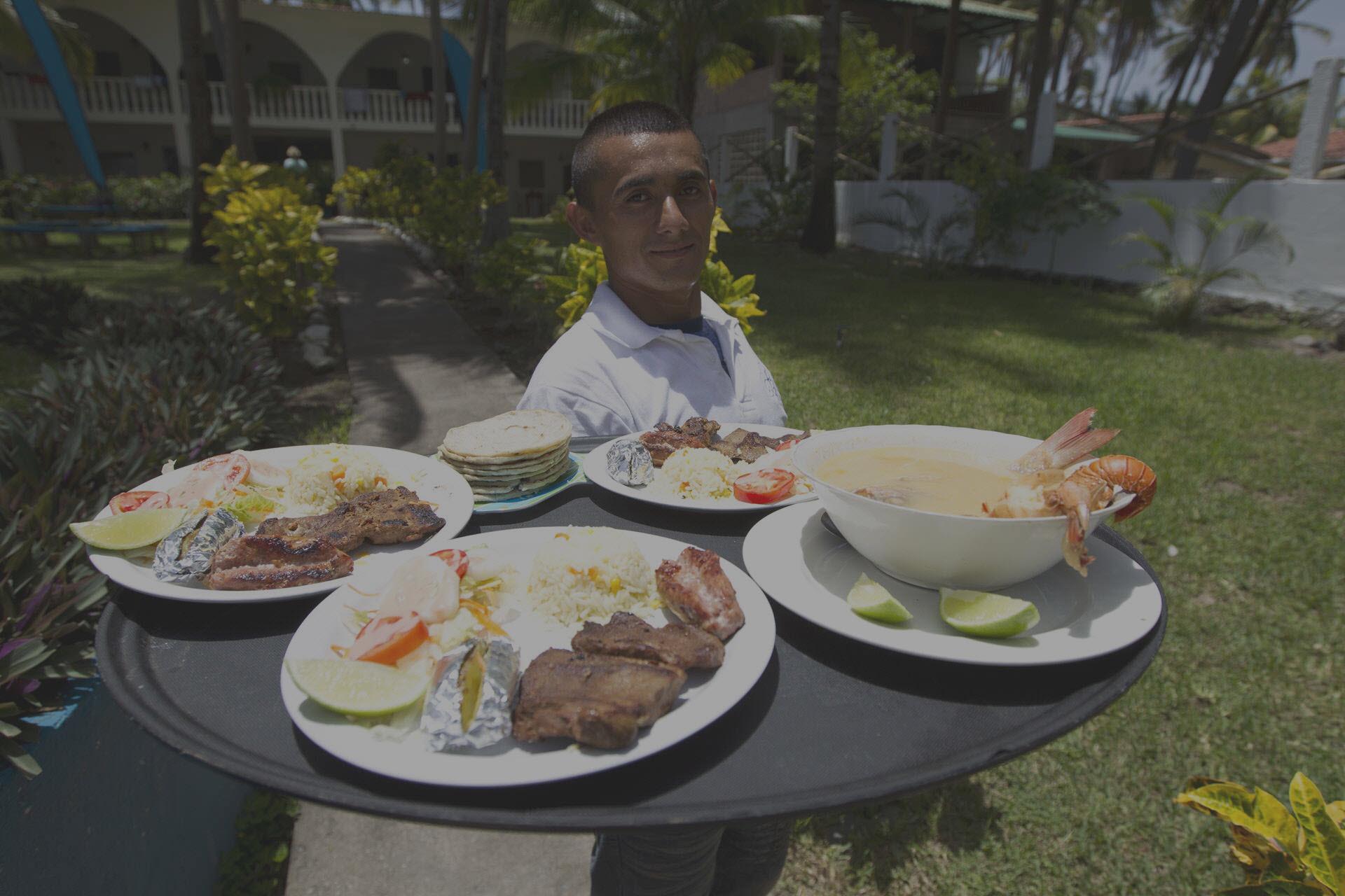Dining at Azul Surf Club